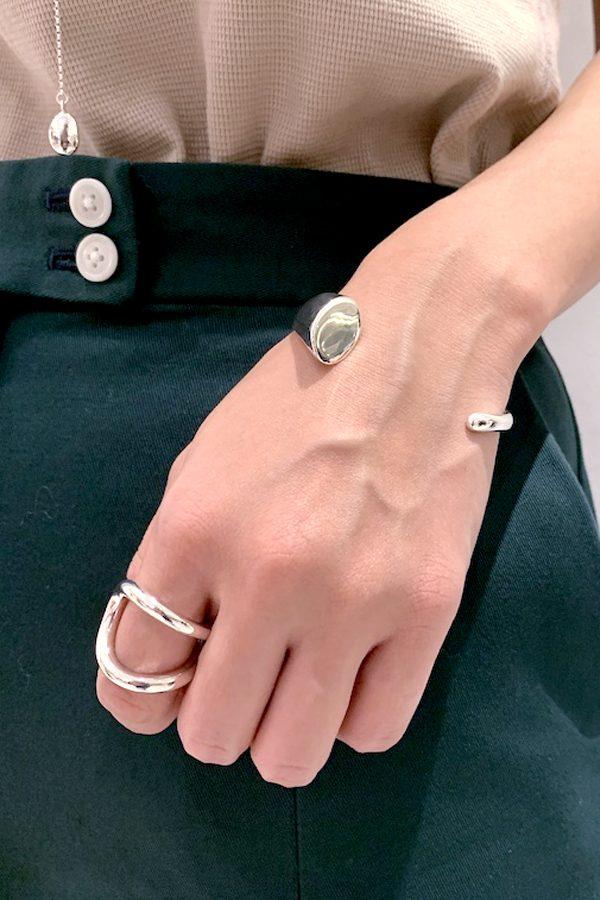 SASAI jewelry Loop Ring (SILVER) [19AW]