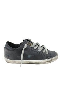 GOLDEN GOOSE DELUXE BRAND レザーローカットスニーカー[SUPERSTAR/BLACK SKATE] (LADIE'S)