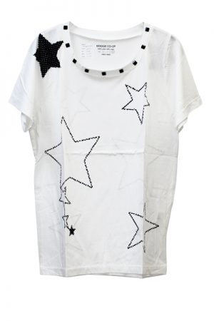 petite robe noire オリジナルプリントスタッズT-シャツ