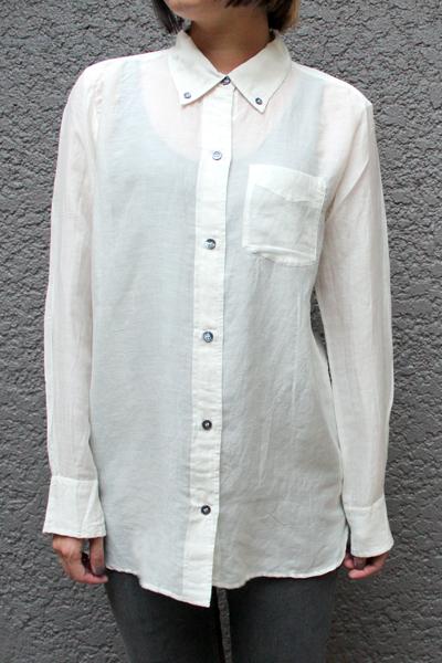 ISABEL MARANT ETOILE コットンシルクボタンダウンシャツ