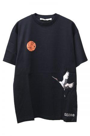 GOLDEN GOOSE DELUXE BRAND 【30%OFF 】CRANEプリントTシャツ(BLACK)【19AW】