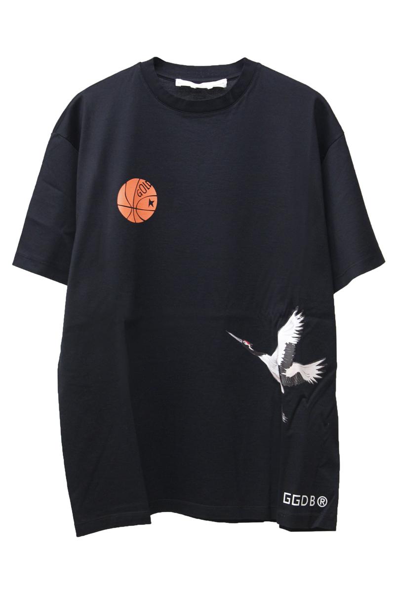 GOLDEN GOOSE DELUXE BRAND 【50%OFF 】CRANEプリントTシャツ(BLACK)
