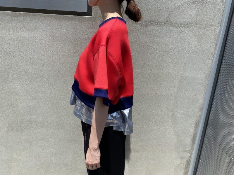 kolor 【40%OFF】レイヤードスウェットトップス【20SS】