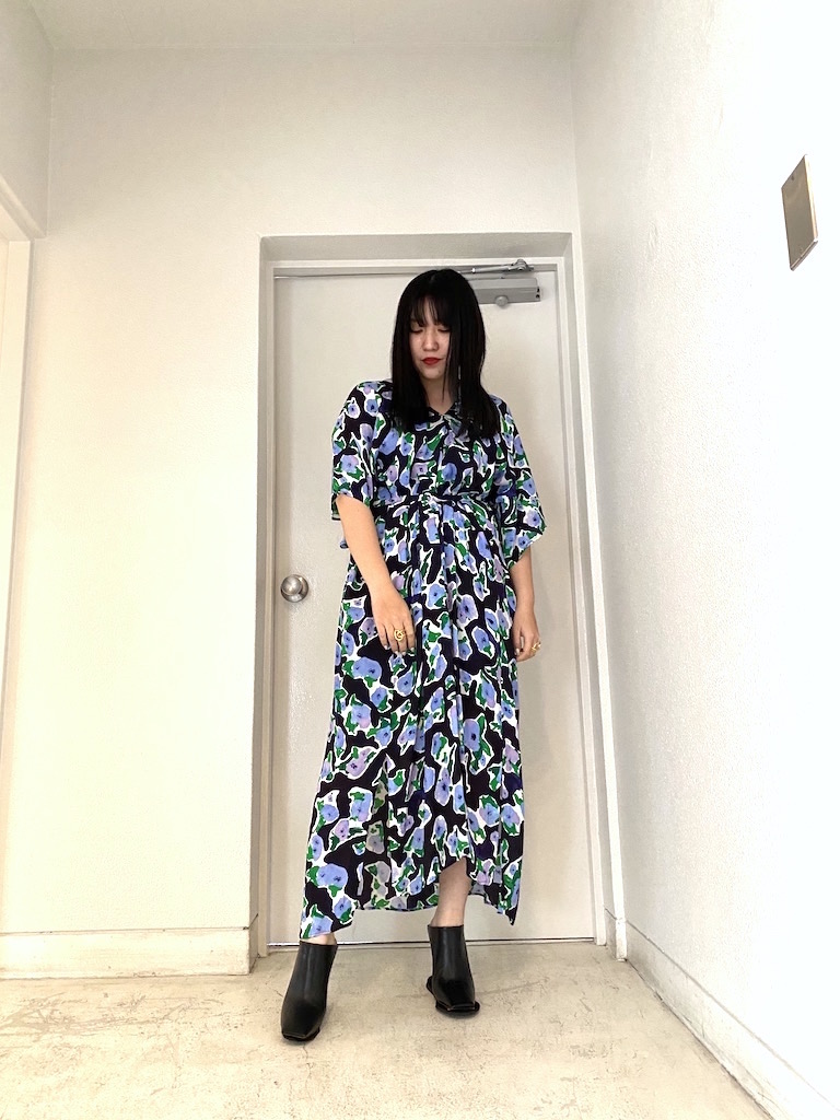 Christian Wijnants 【40%OFF】総柄半袖ワンピース 【20SS】