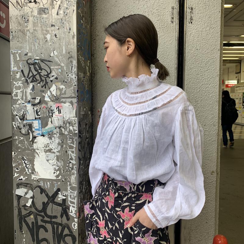 ISABEL MARANT ETOILE 【40%OFF】ギャザーネックブラウス 【20SS】