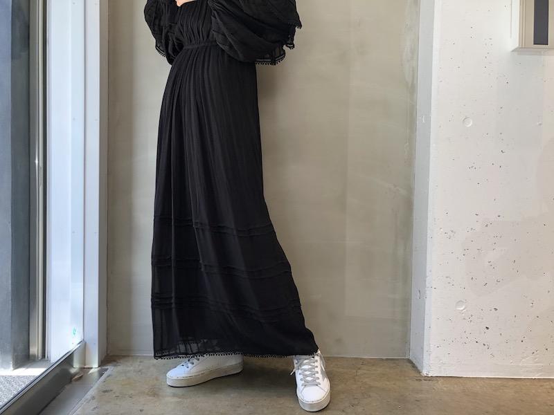 ISABEL MARANT ETOILE 【40%OFF】ワイドスリーブマキシワンピース 【20SS】