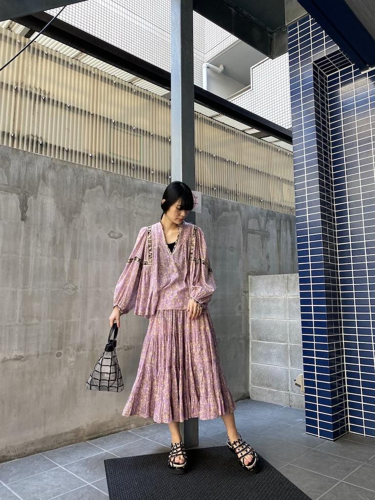 ISABEL MARANT ETOILE 【40%OFF】花柄スキッパーネックブラウス【20SS】