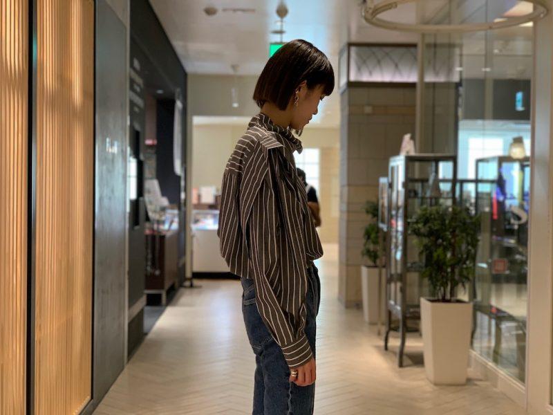 ISABEL MARANT 【40%OFF】ストライプワイドブラウス【20SS】