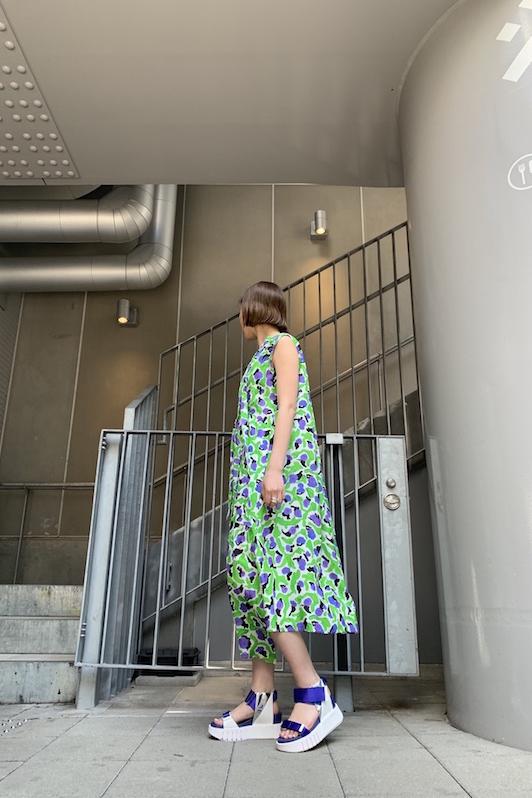 Christian Wijnants 【40%OFF】総柄ノースリーブワンピース【20SS】
