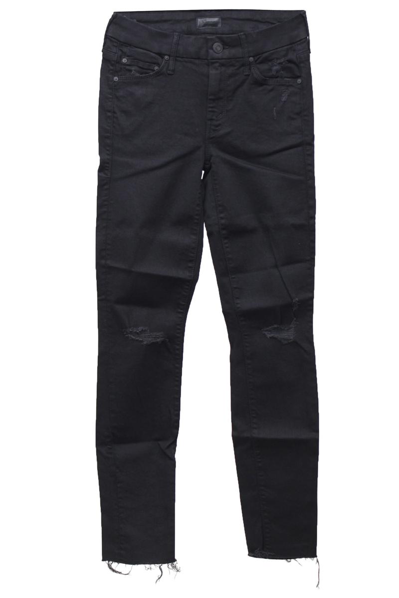 MOTHER 【50%OFF】ブラックデニム裾カットオフスキニーパンツ