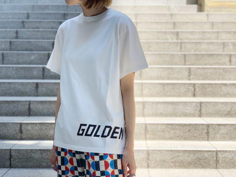 GOLDEN GOOSE DELUXE BRAND 【30%OFF】裾ロゴTシャツ