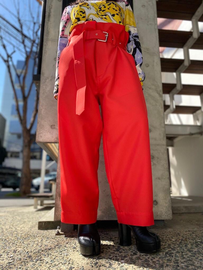 PLAN C 【40%OFF】ベルト付ワイドパンツ【20SS】
