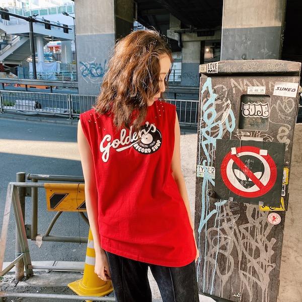 GOLDEN GOOSE DELUXE BRAND 【40%OFF】ロゴプリントタンクトップ【20SS】