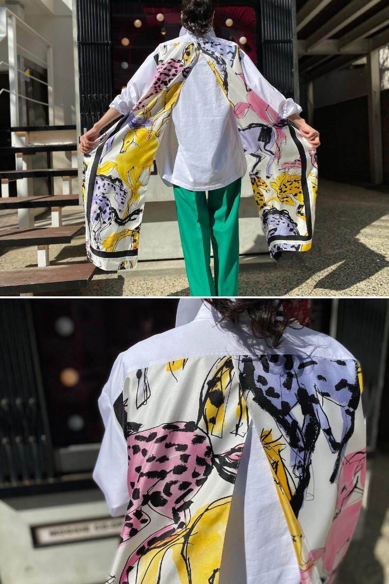 STELLA McCARTNEY 【40%OFF】ホース柄ロングシャツ【20SS】