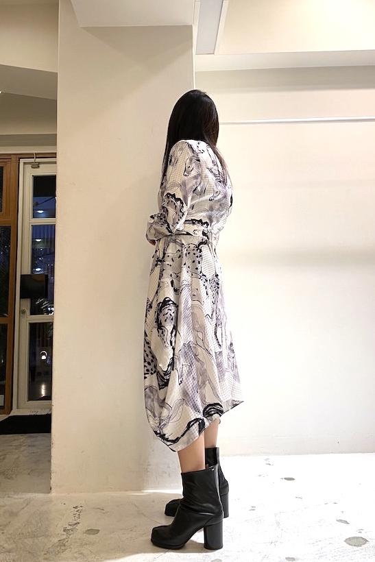 STELLA McCARTNEY 【50%OFF】モノクロホース柄ドレス【20SS】