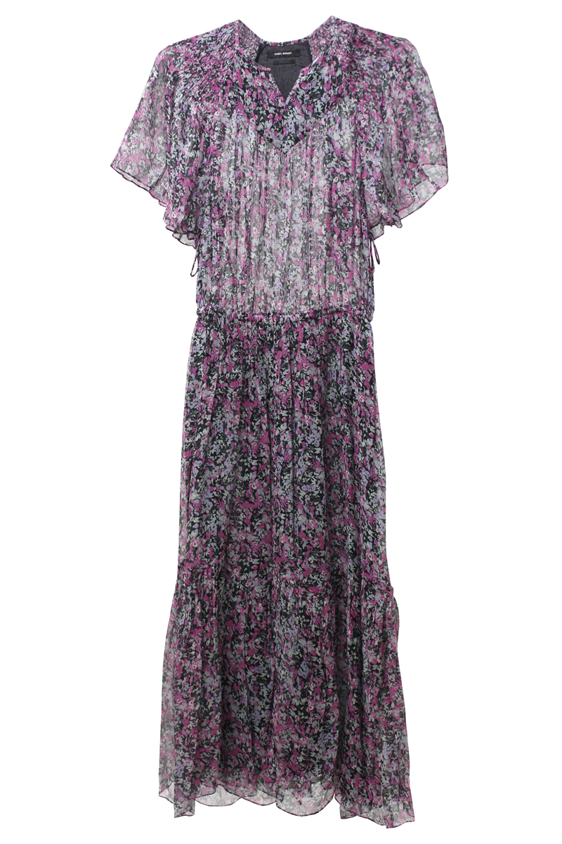 ISABEL MARANT 【40%OFF】小花柄半袖マキシワンピース [20SS]