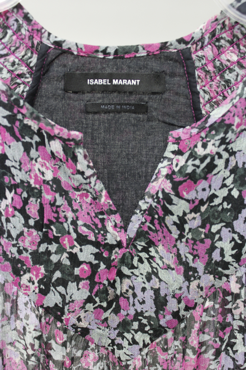 ISABEL MARANT 【40%OFF】小花柄半袖マキシワンピース