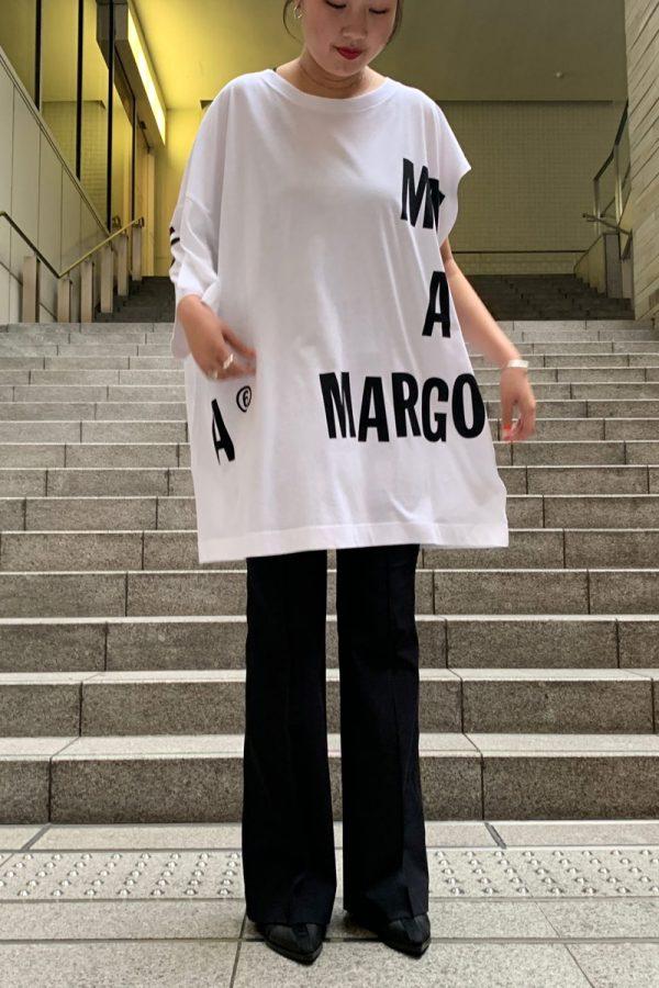 MM6 MAISON MARGIELA プリントアシンメトリーTシャツ【20SS】