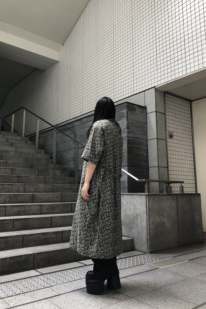 STAND ALONE 【40%OFF】花柄半袖シャツワンピース