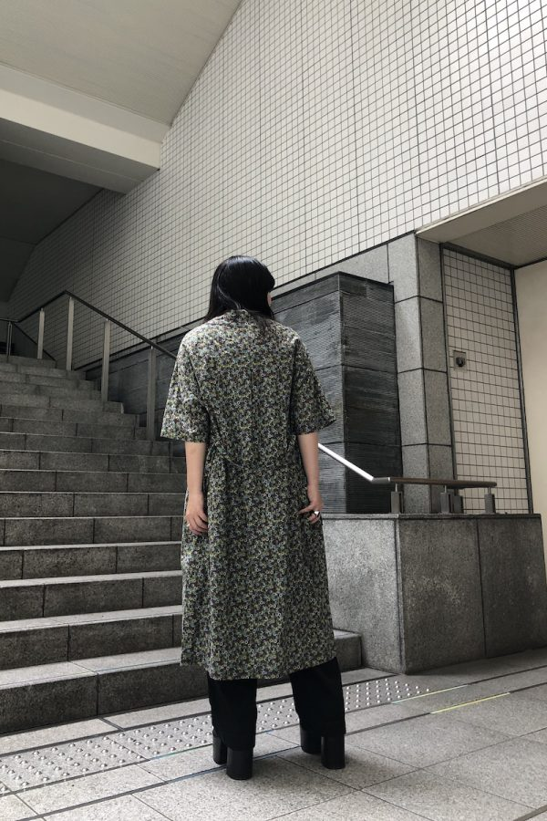 STAND ALONE 花柄半袖シャツワンピース【20SS】