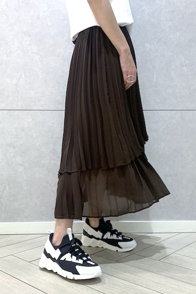 REKISAMI プリーツレイヤードスカート  [20SS]