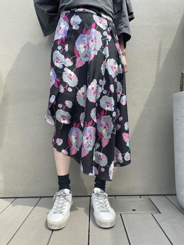 ISABEL MARANT 【40%OFF】大花柄ラップ風スカート