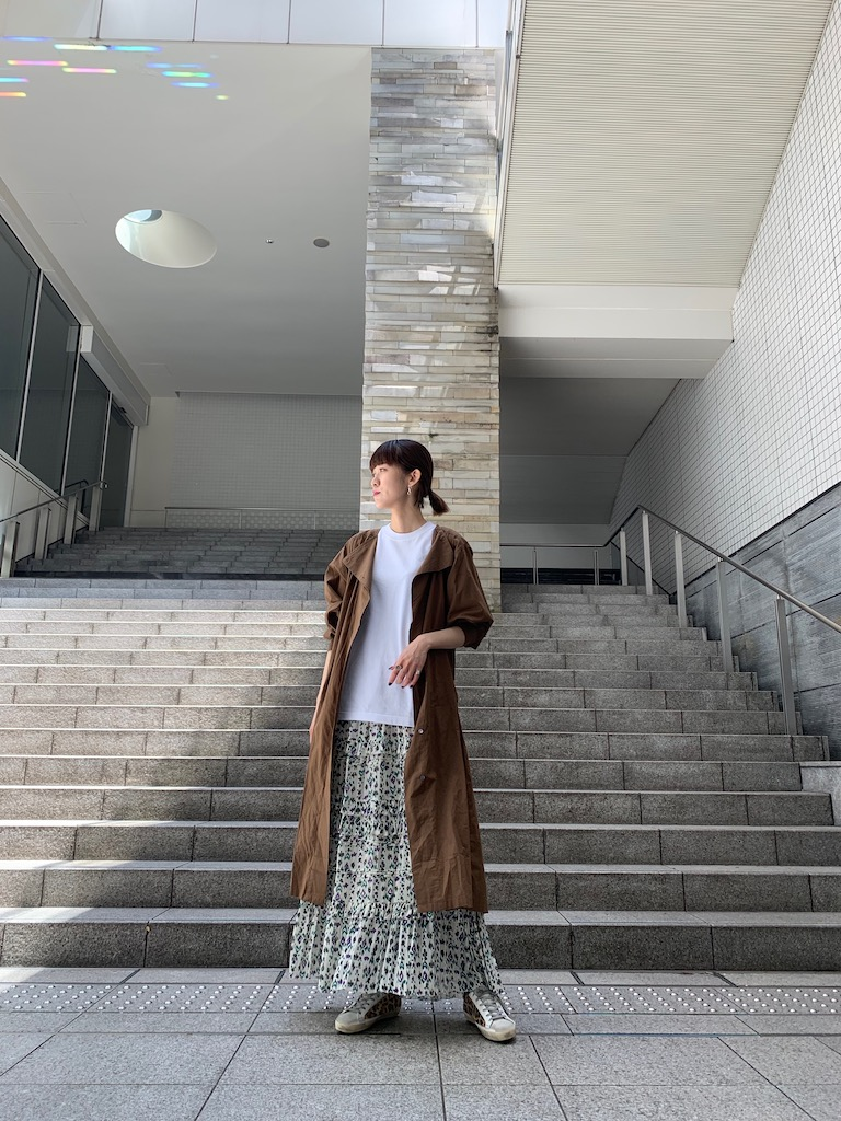 ISABEL MARANT ETOILE 【40%OFF】総柄ティアードロングスカート【20SS】