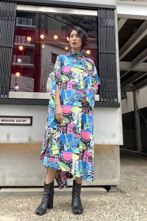 BALENCIAGA 【40%OFF】Cityプリントドレープドレス【20SS】