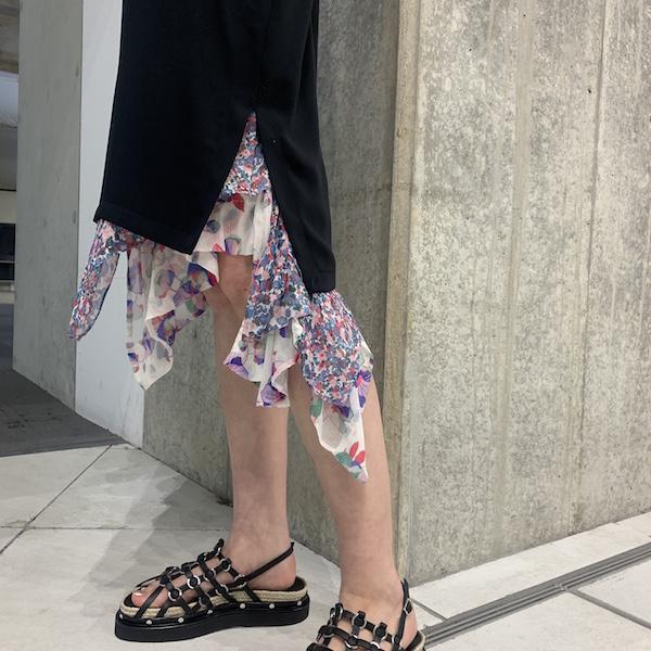 ISABEL MARANT 【50%OFF】花柄切替レイヤードスカート