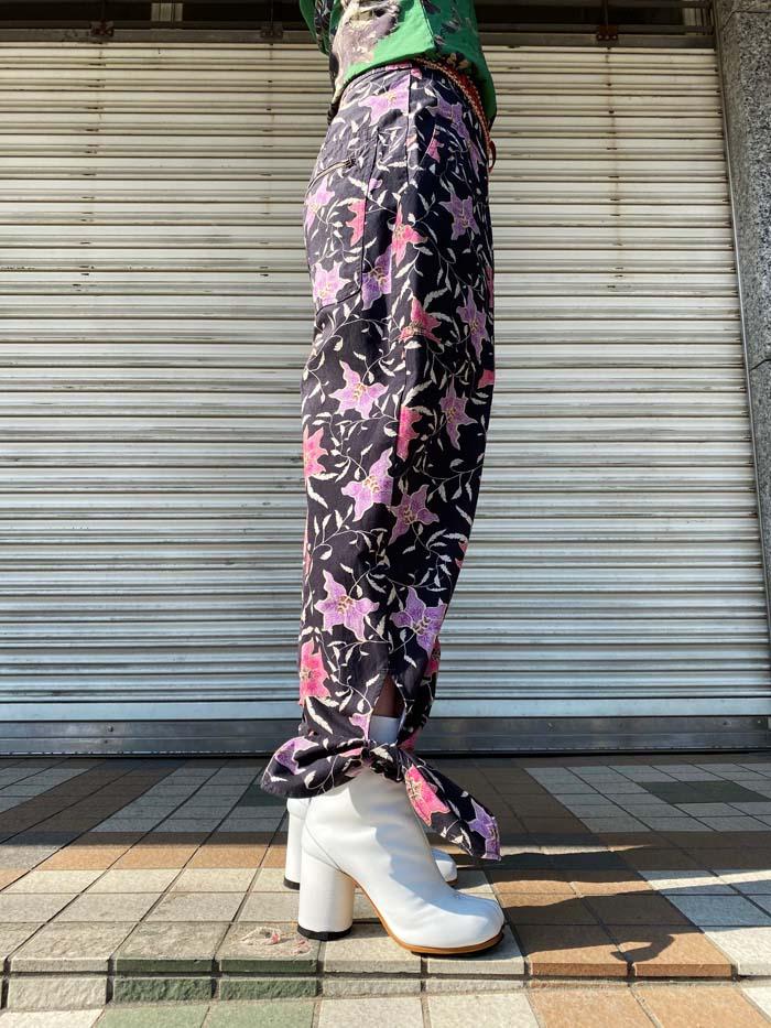 ISABEL MARANT 【40%OFF】花柄裾リボンパンツ [20SS]