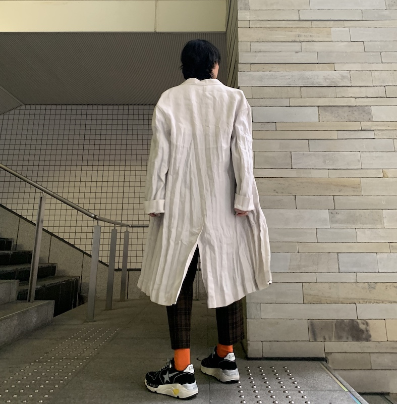 Acne Studios 【50%OFF】ダブルブレストリネンコート