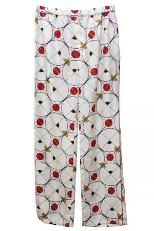 MAISON EUREKA 【40%OFF】総柄パジャマパンツ (RED)[20SS]