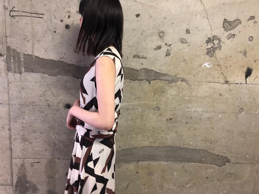 rokh ラップウエストロングドレス 【20SS】