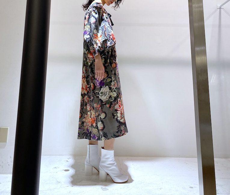 DRIES VAN NOTEN オフショルダー花柄ワンピース 【20SS】