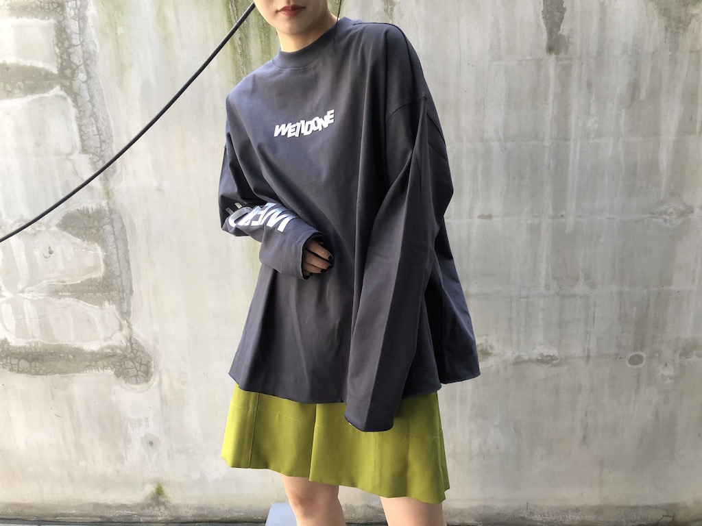 WE11DONE メタルロゴ長袖トップス [20SS]
