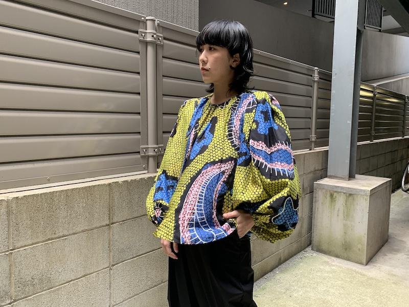 Christian Wijnants 【40%OFF】総柄フレアブラウス【20SS】