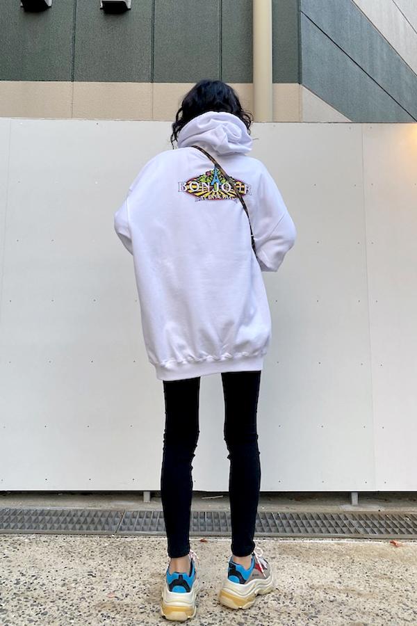 BALENCIAGA 【40%OFF】BONJOURフーディ [20SS]