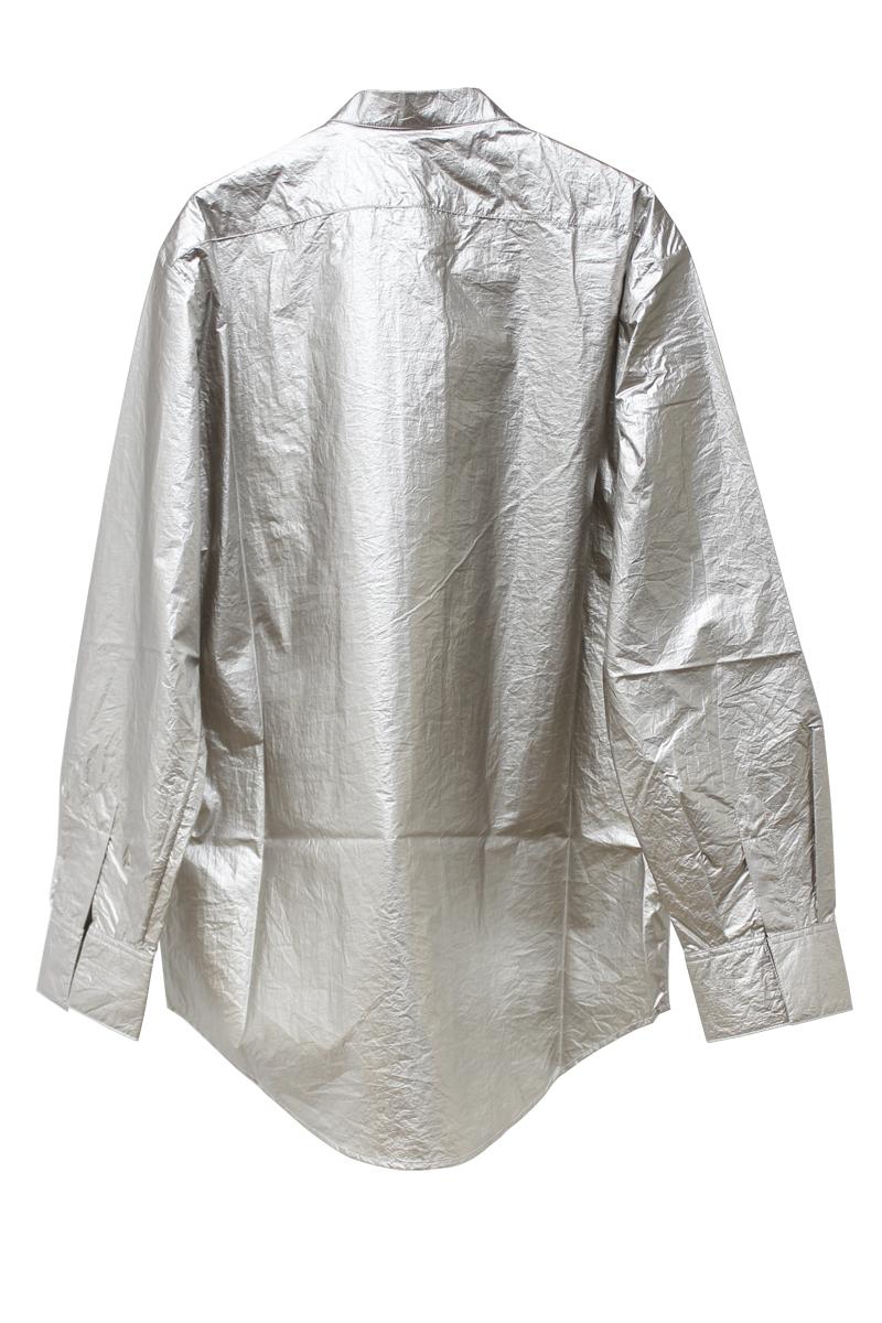SARA LANZI 【40%OFF】メタリックオーバーサイズシャツ【20SS】