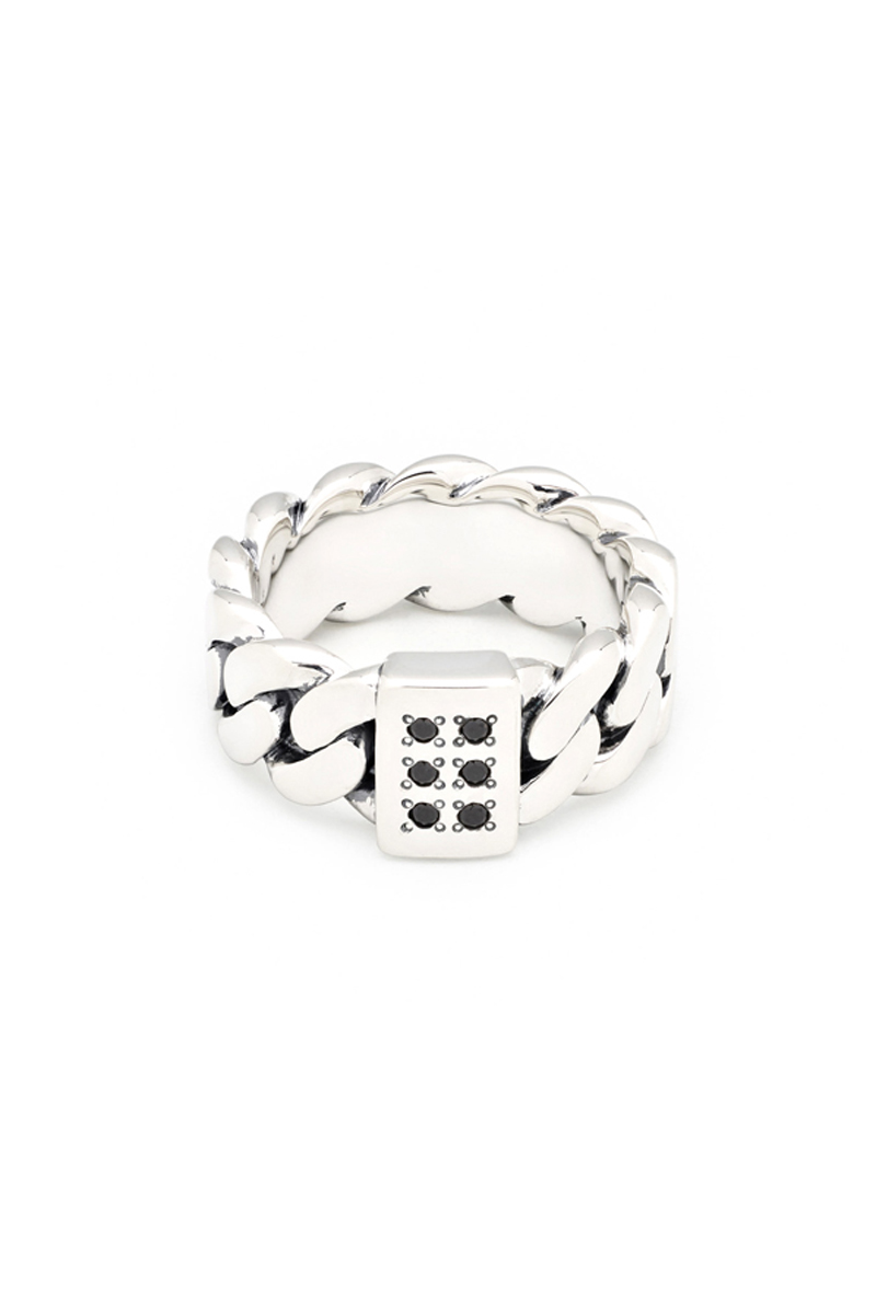 TOM WOOD Chain Ring Thick Spinel