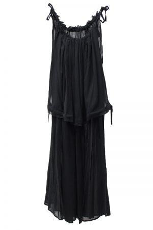 FEMMENT ボイルギャザーロングドレス【20SS】