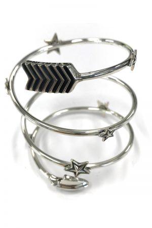CODY SANDERSON Shooting stars spiral Bracelet w/Silver Star