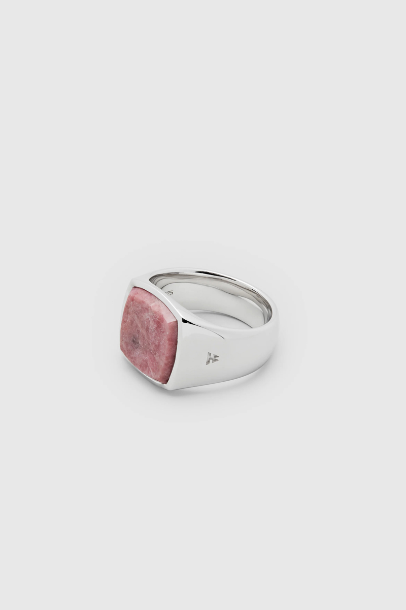 TOM WOOD Cushion Pink Rhodonite