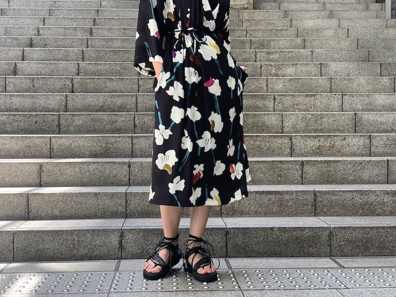 WANDERUNG 【40%OFF】花柄ラップワンピース [20SS]