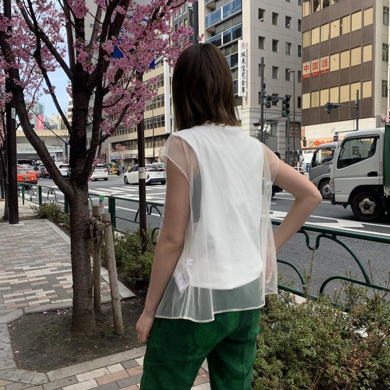 REKISAMI 【40%OFF】チュールブラウス【20SS】