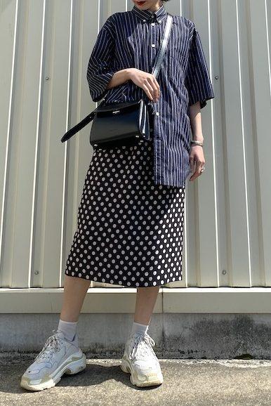 DRIES VAN NOTEN ウエストリボンドットスカート【20SS】