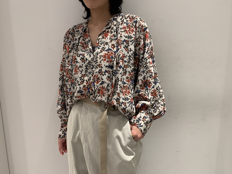 ISABEL MARANT 【40%OFF】花柄ワイドフレアブラウス【20SS】
