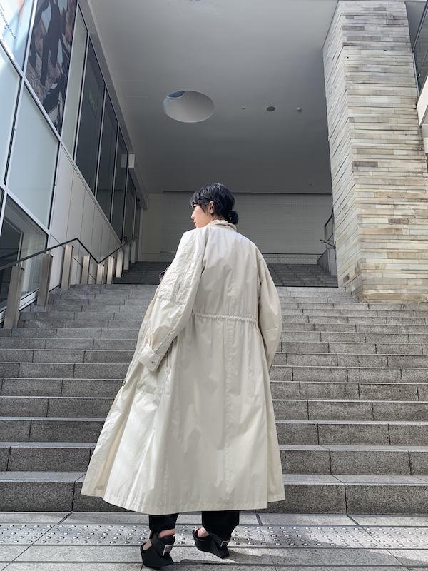 ISABEL MARANT 【40%OFF】ギャザーネックロングコート【20SS】