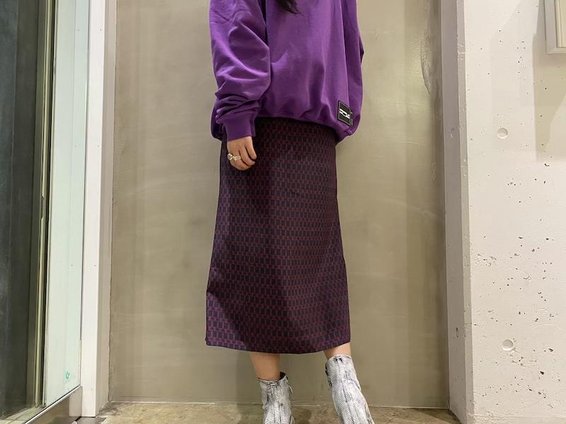 rokh 【40%OFF】ラップミックススカート【20SS】