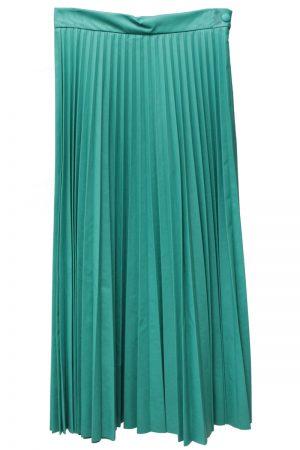 MM6 MAISON MARGIELA フェイクレザープリーツスカート [20AW]