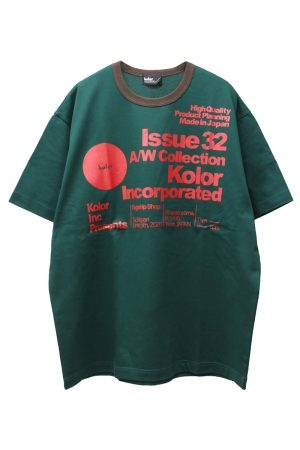 kolor ロゴプリントTシャツ